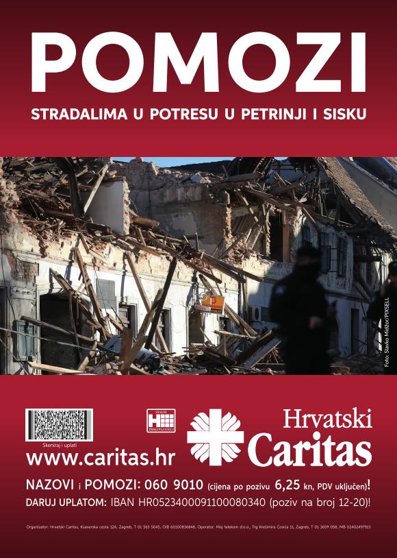 Poziv biskupa Radoša na pomoć stradalima u potresu